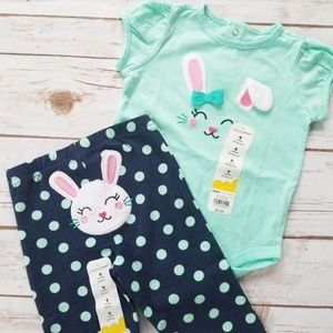 NWT Jumping Beans Bunny Outfit | 9M